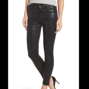 Cache Black Coated Jeans NWT